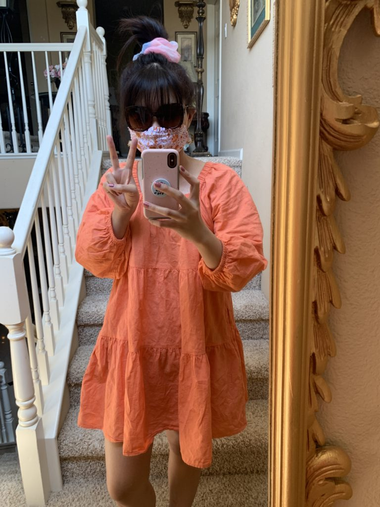 Puff orange tiered dress from Target